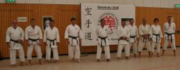 A karate delegation from Belgium and sensei Lallemand